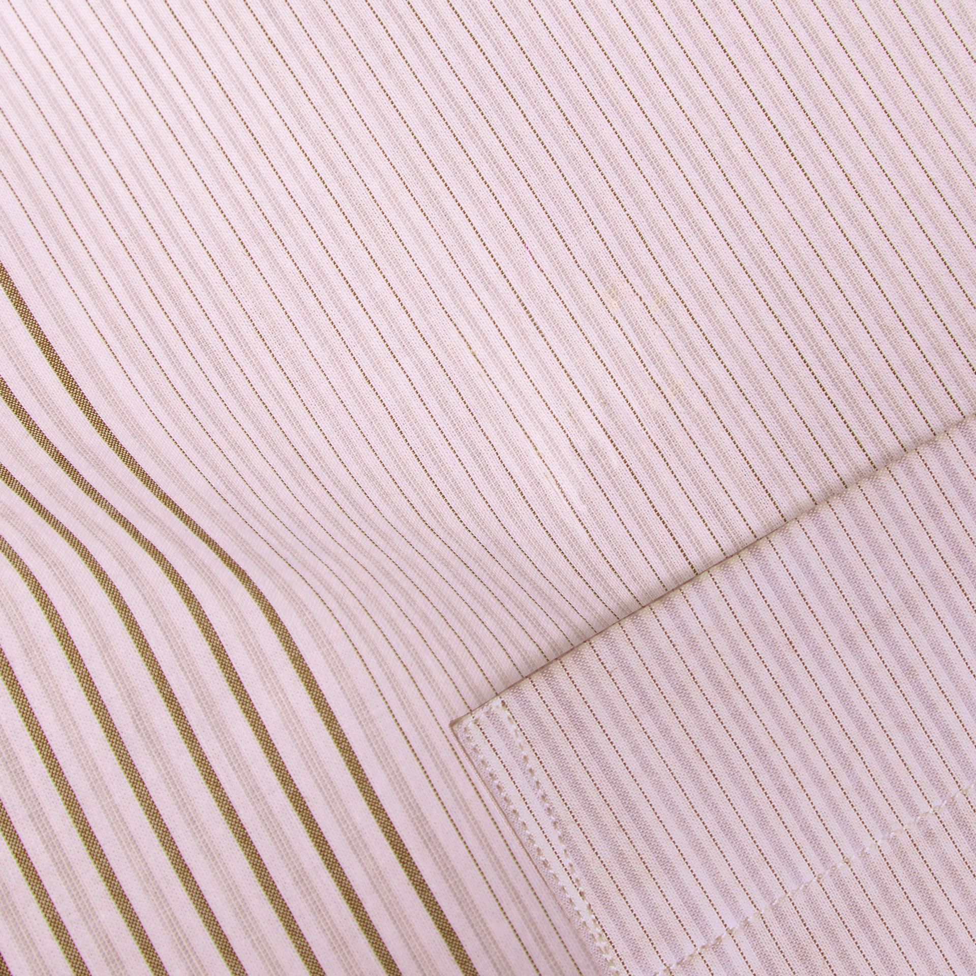 Panelled Stripe Cotton Shirt Rose Pink - gallery image 2