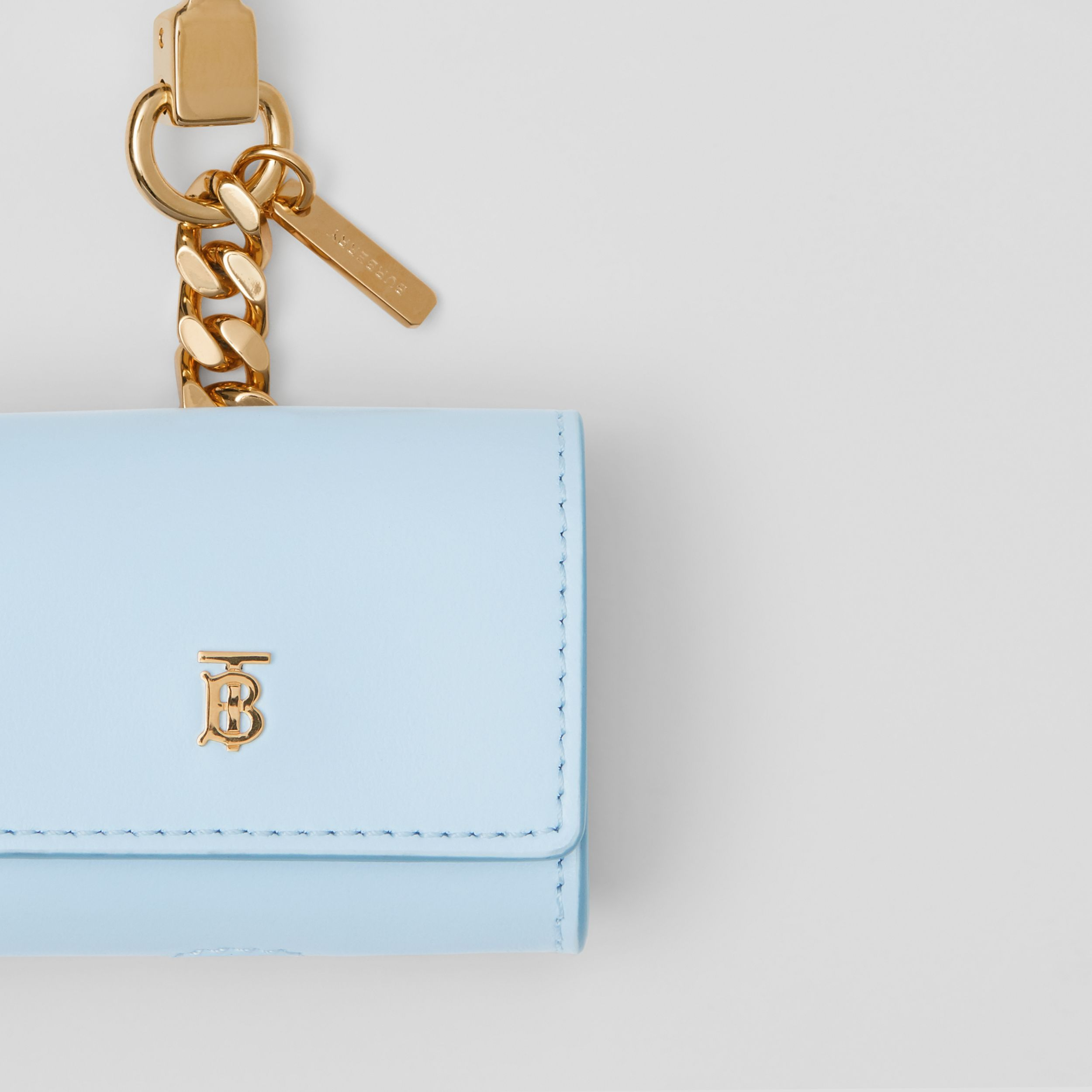 Leather AirPods Pro Case in Pale Blue | Burberry - 2