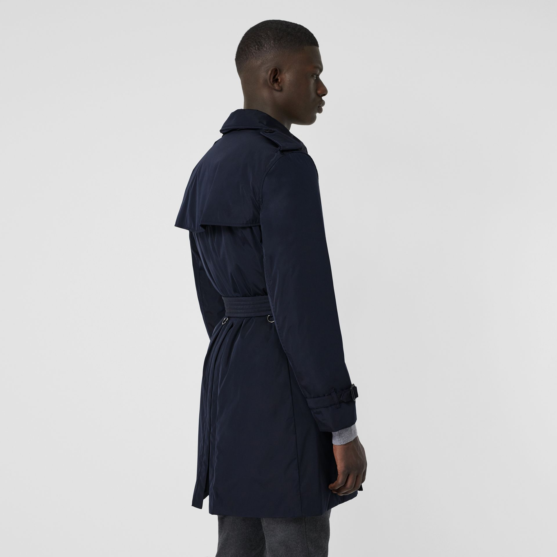 Quilt-lined Nylon Trench Coat in Ink - Men | Burberry United States - gallery image 2