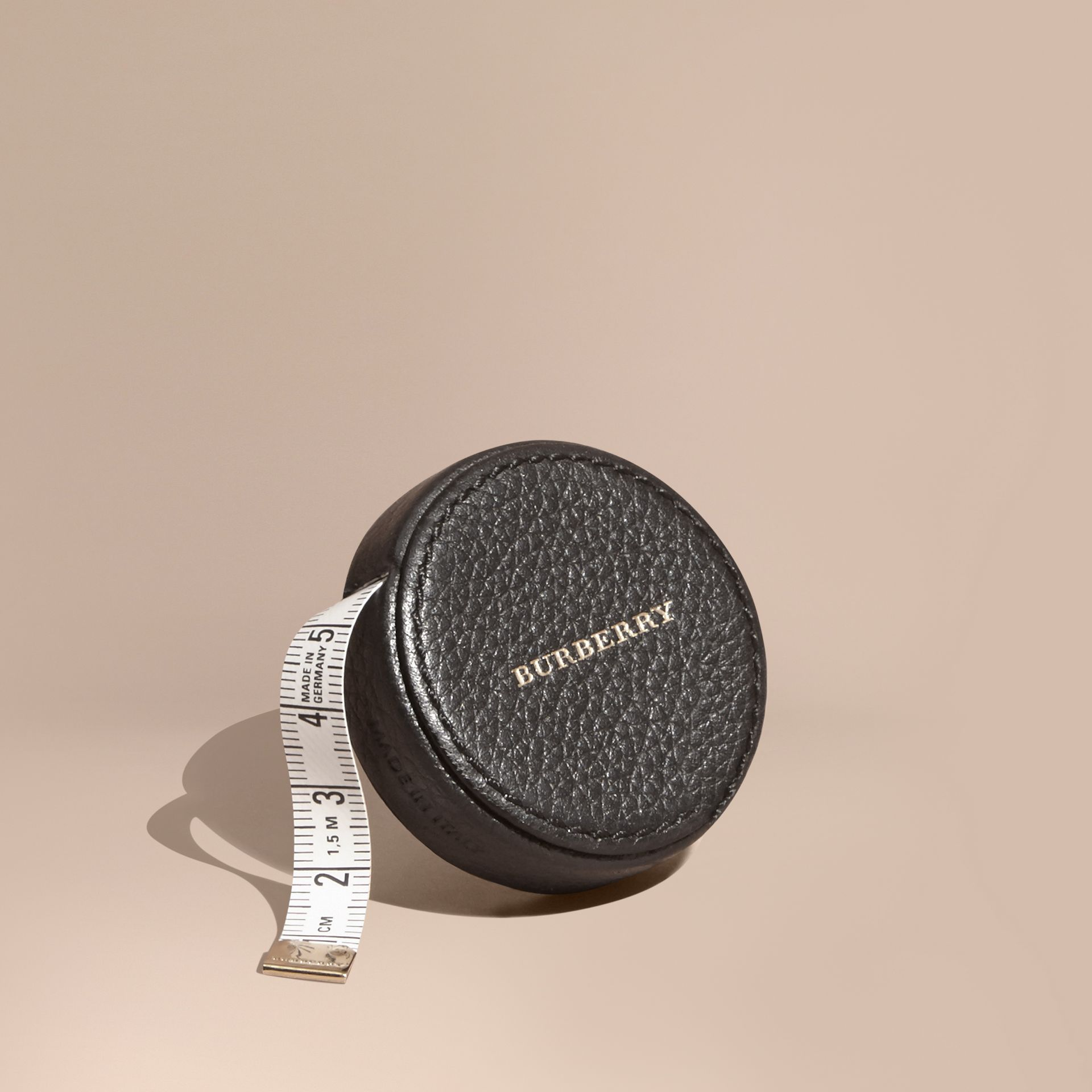 Preto Fita métrica com estojo de couro granulado - galeria de imagens 1