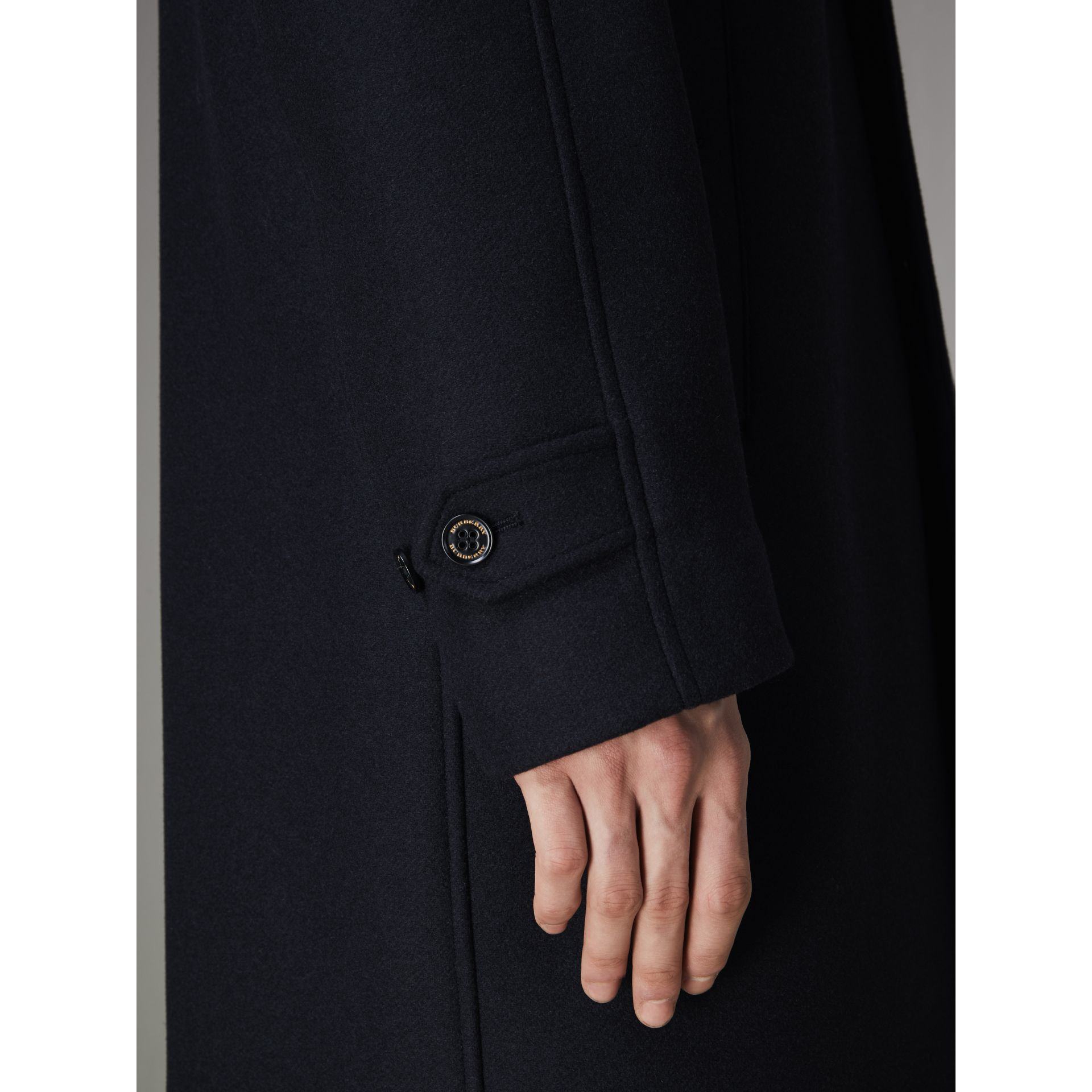 Cashmere Car Coat in Navy - Men | Burberry United States - gallery image 5