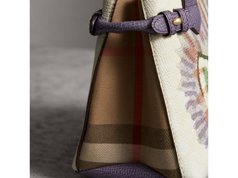 The Baby Banner in Leather with Pallas Heads Print in Dusty Violet - Women | Burberry - cell image 1