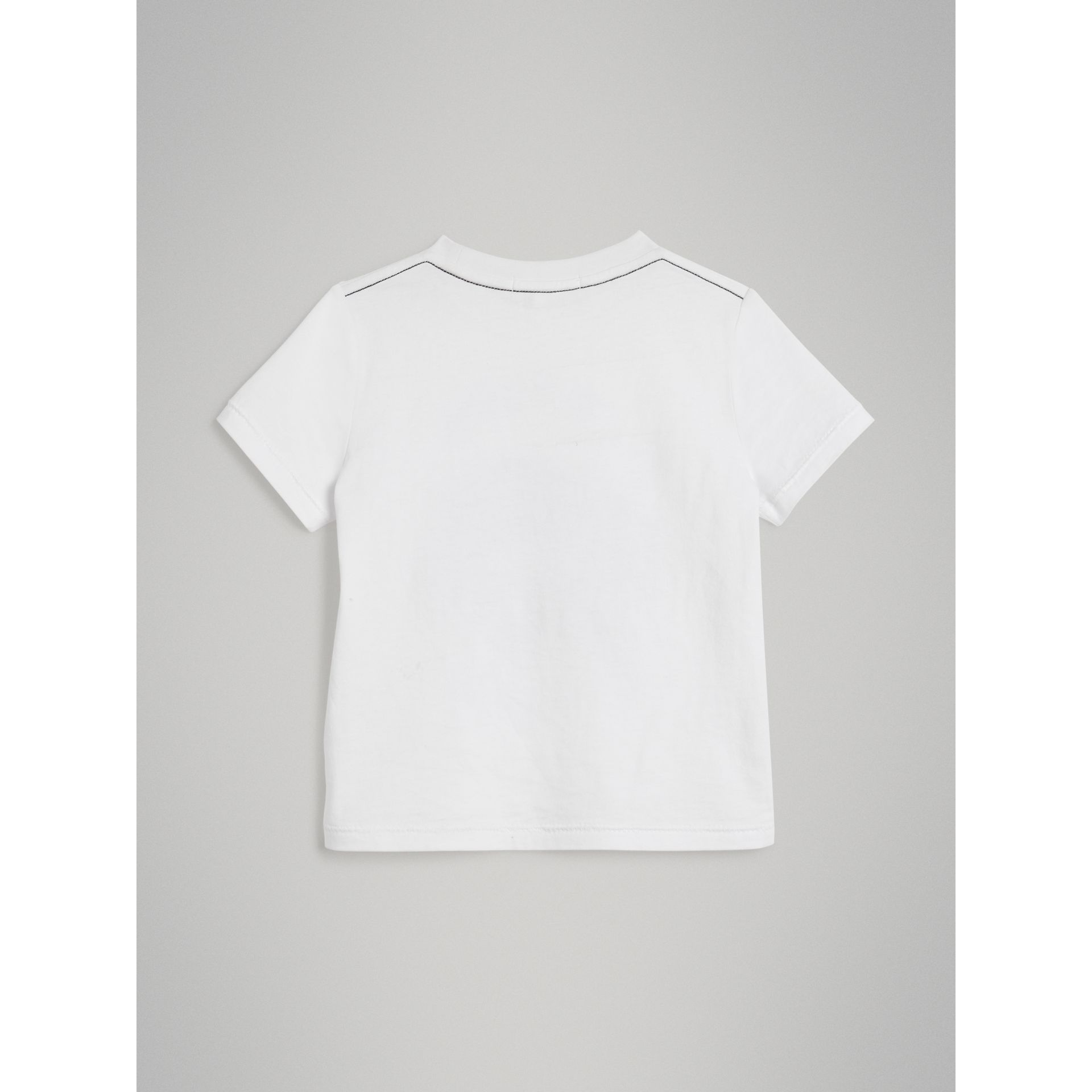 Night Print Cotton T-shirt in White | Burberry - gallery image 3