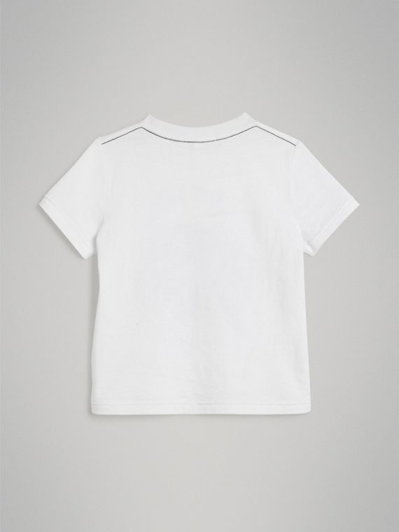 Night Print Cotton T-shirt in White - Boy | Burberry - cell image 3