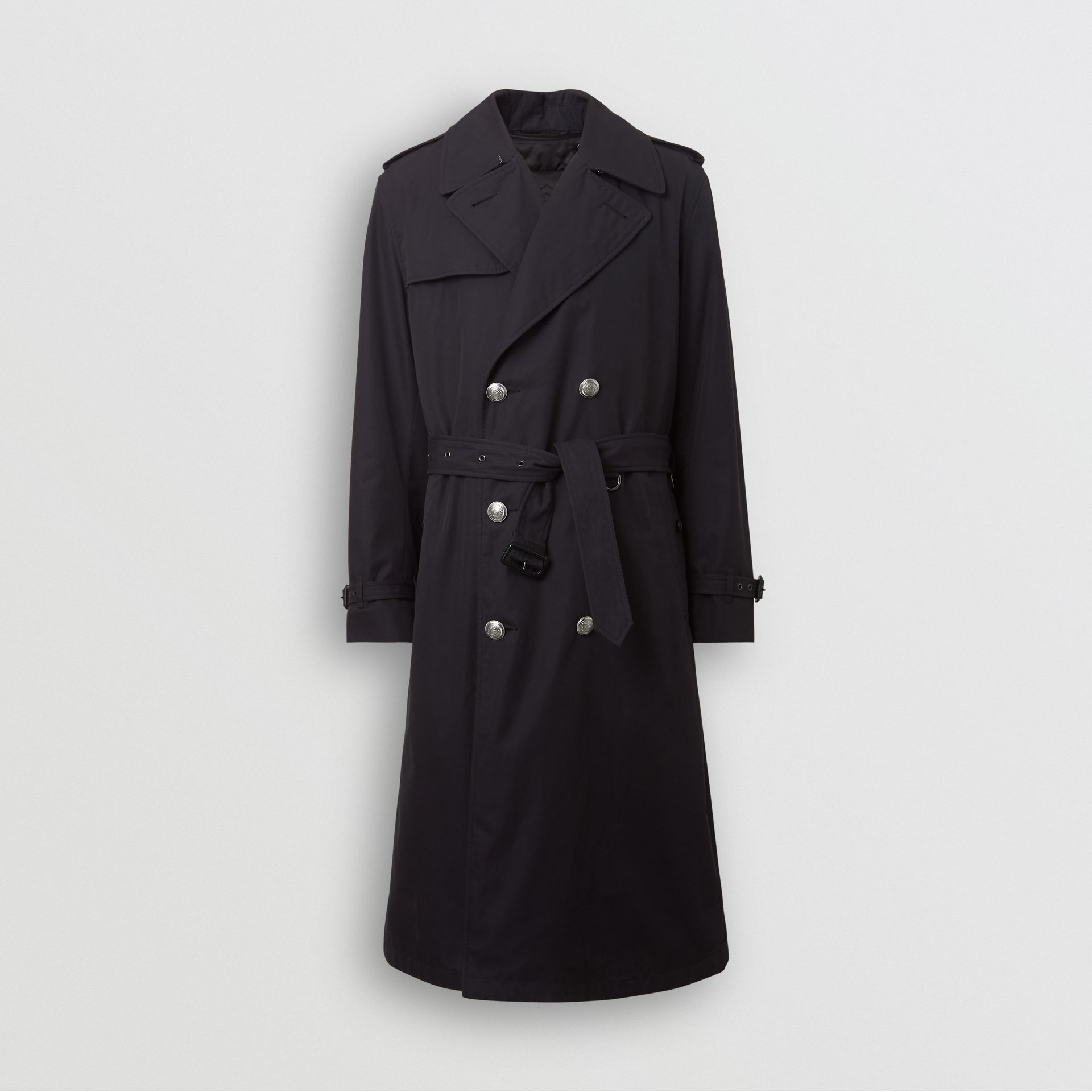 Cotton Gabardine Trench Coat with Warmer in Midnight - Men | Burberry United States - gallery image 6