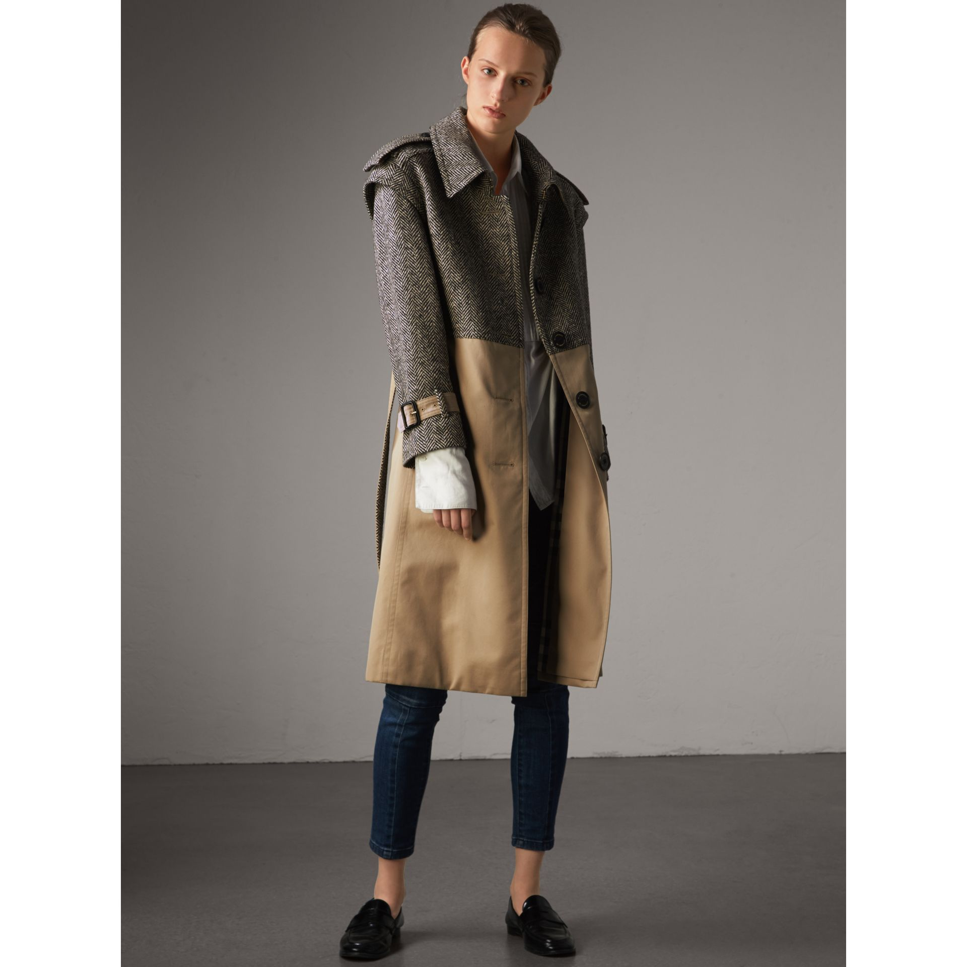 Donegal Tweed and Cotton Gabardine Trench Coat - Women | Burberry - gallery image 1