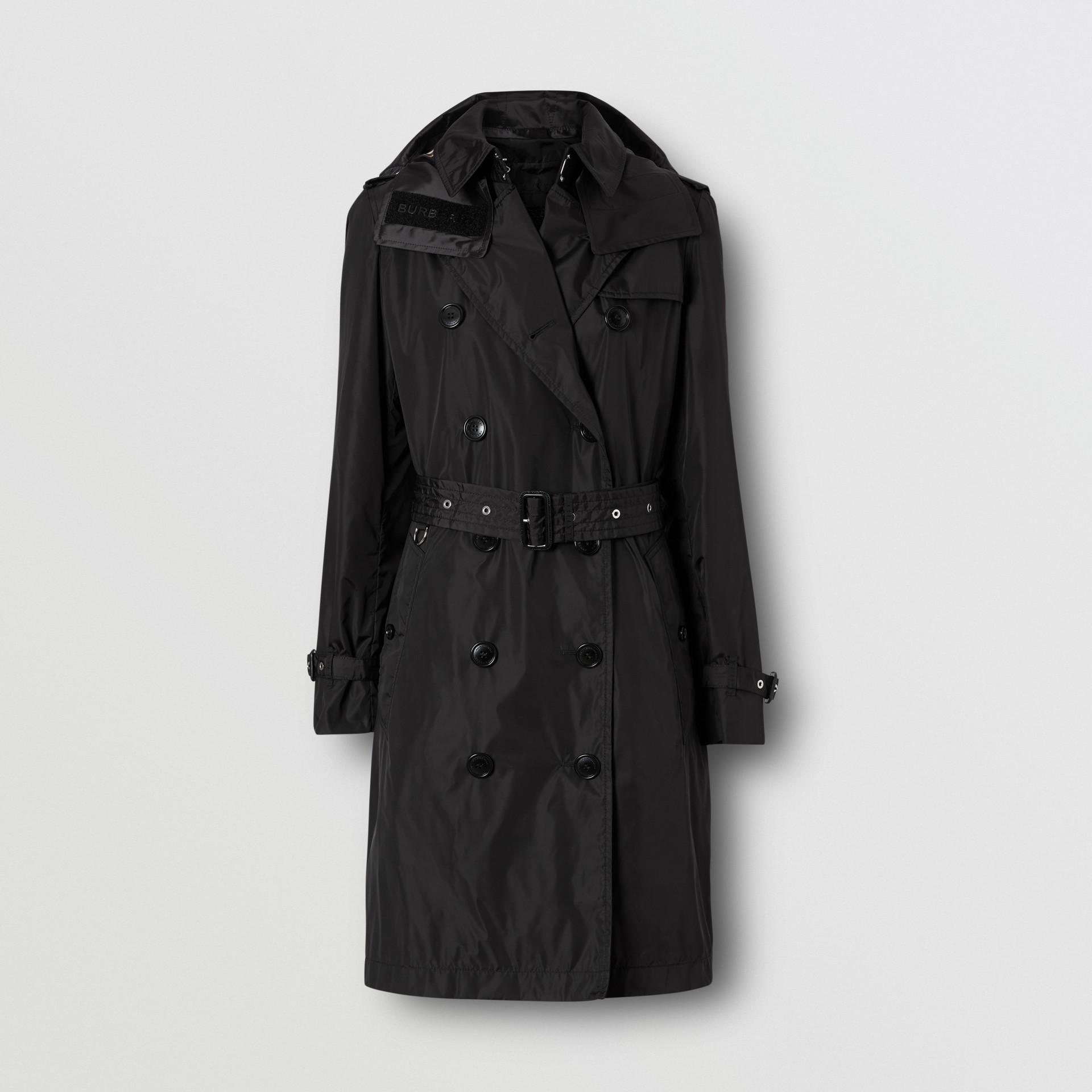 Detachable Hood ECONYL® Trench Coat in Black - Women | Burberry Singapore - gallery image 3