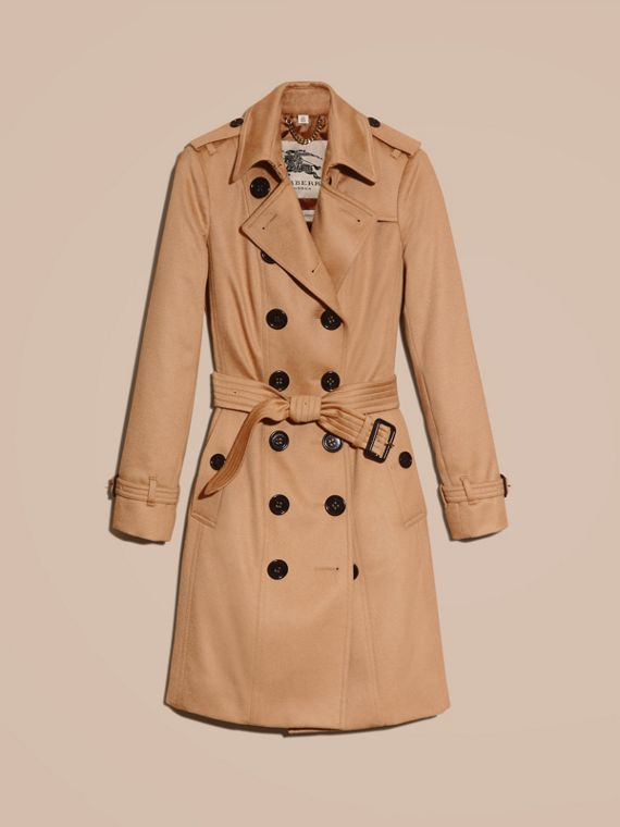 Sandringham Fit Cashmere Trench Coat Camel - cell image 3