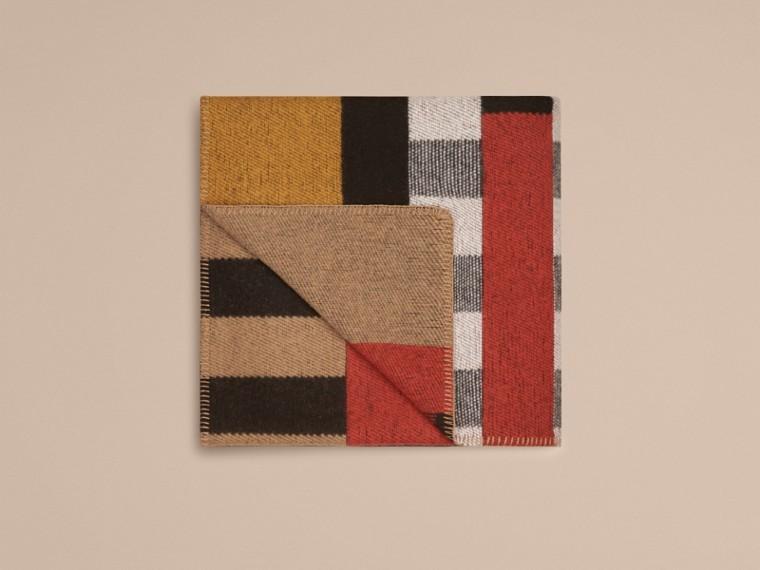 Checks house/negro Manta de checks en lana y cachemir - cell image 2
