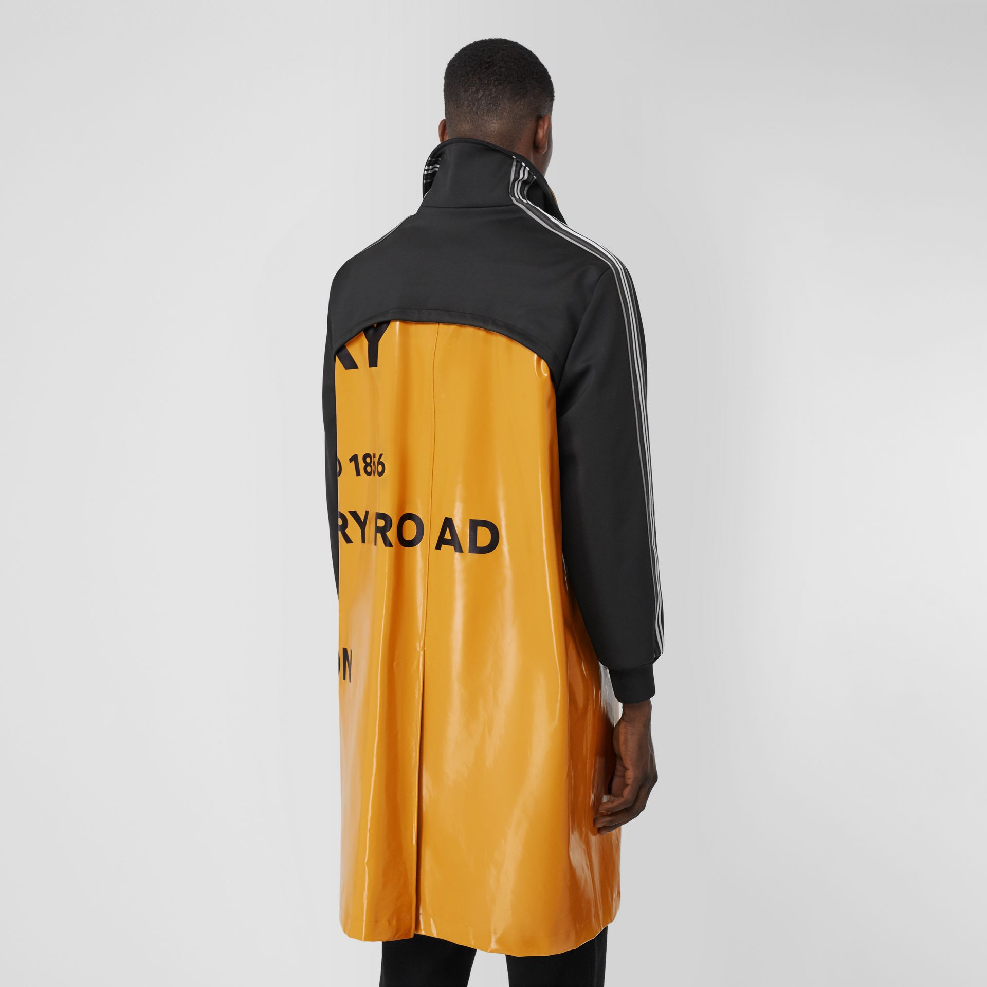 Track Top Panel Horseferry Print Car Coat in Yellow - Men | Burberry United Kingdom - gallery image 2