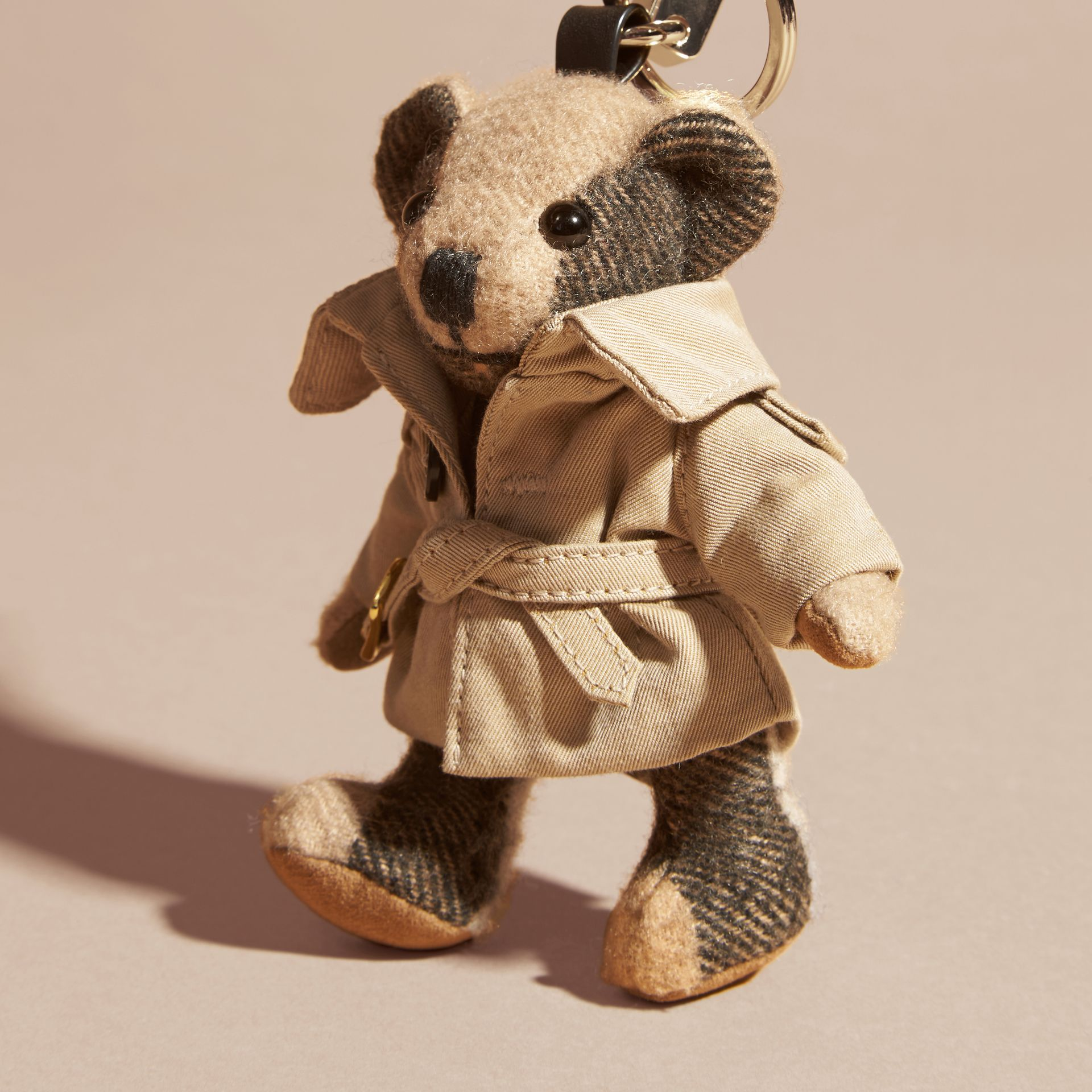 Camel Thomas Bear Charm in Trench Coat - gallery image 2