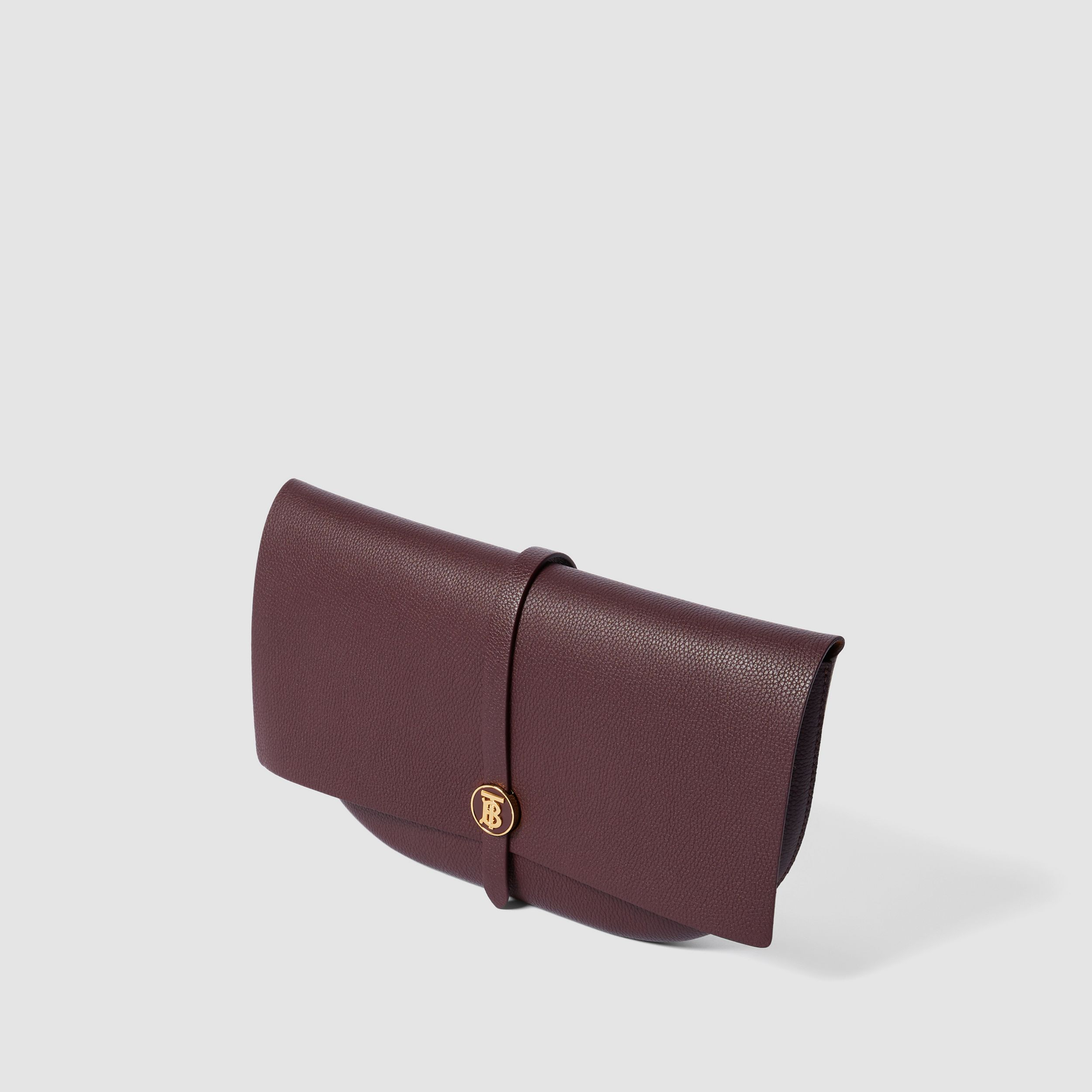 Grainy Leather Anne Clutch in Dark Walnut - Women | Burberry - 4