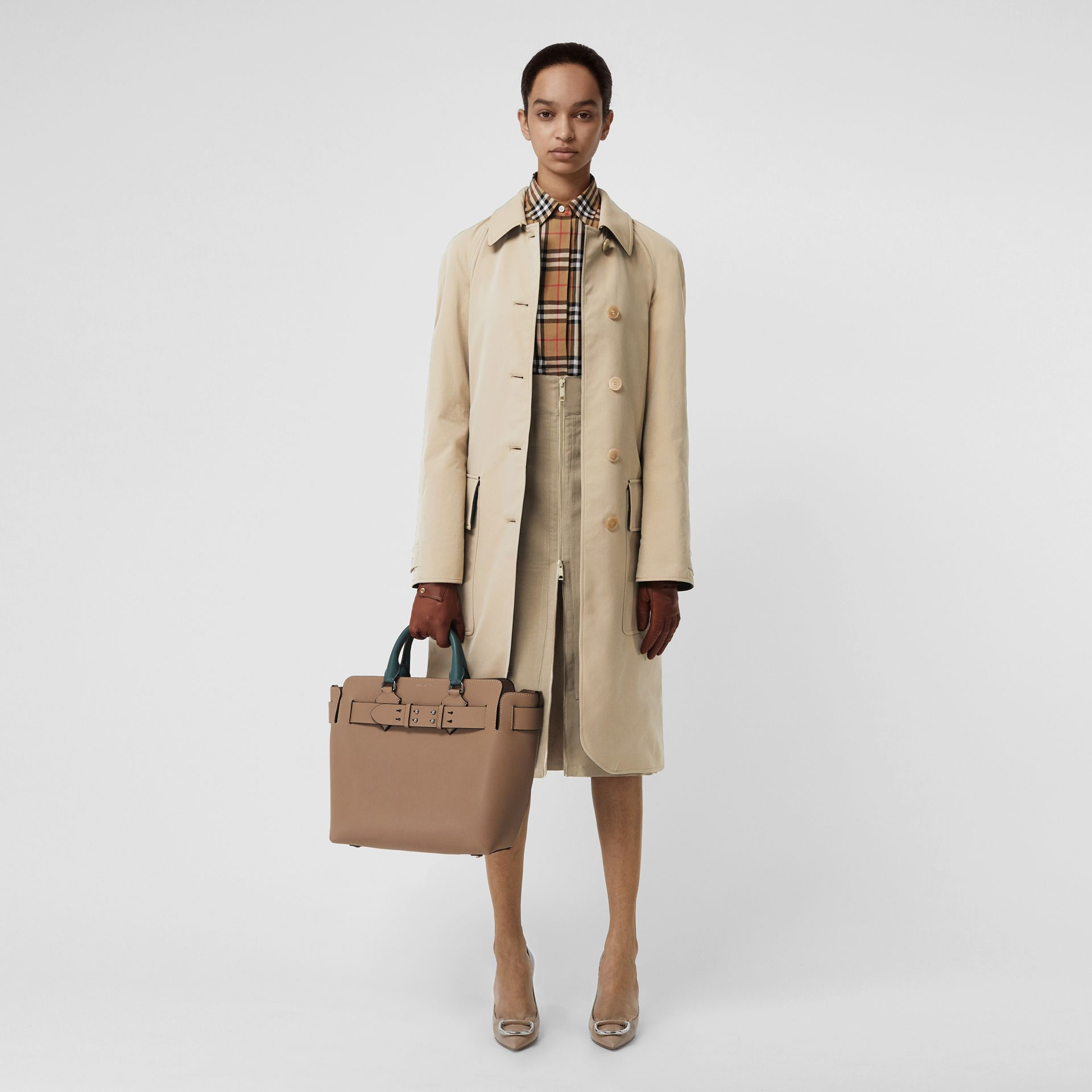 Wool-lined Tropical Gabardine Car Coat in Honey - Women | Burberry - gallery image 0