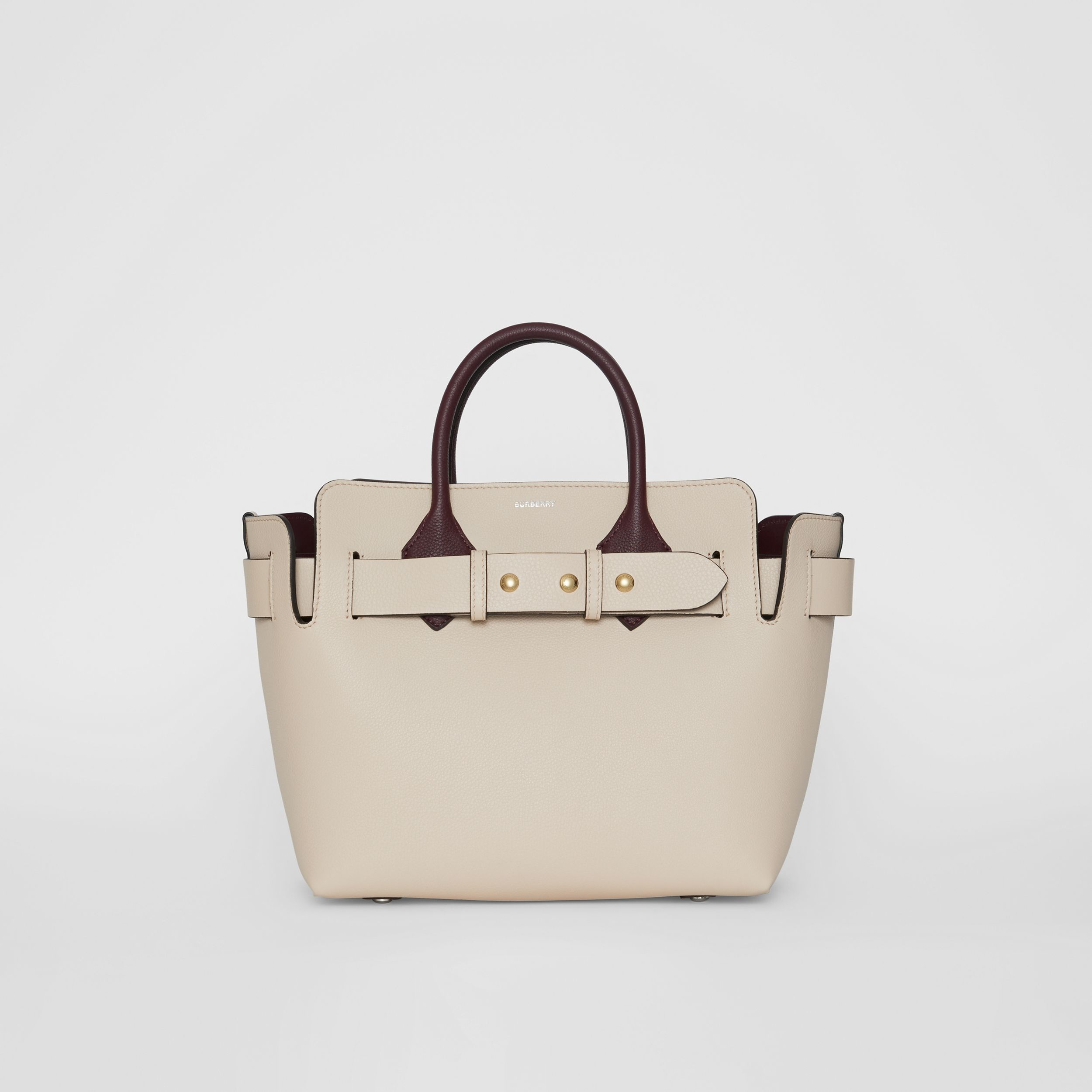 The Small Tri-tone Leather Triple Stud Belt Bag in Limestone/pale Drift - Women | Burberry - 1
