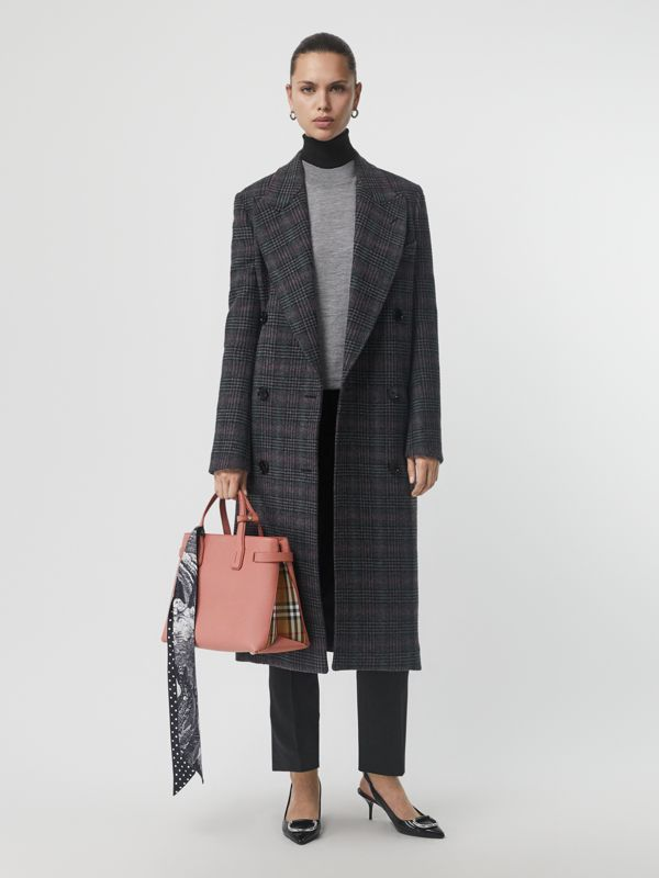 The Medium Banner aus Leder und Vintage Check-Gewebe (Aschrosa) - Damen | Burberry - cell image 2