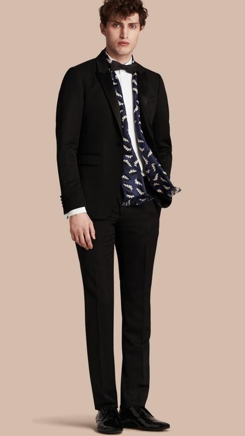 Noir Pantalon de smoking en laine vierge Noir - Image 1