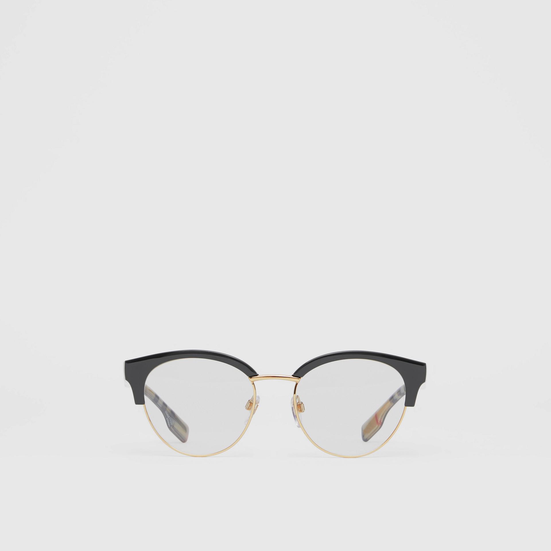 Cat-eye Optical Frames in Black/beige - Women | Burberry - gallery image 0