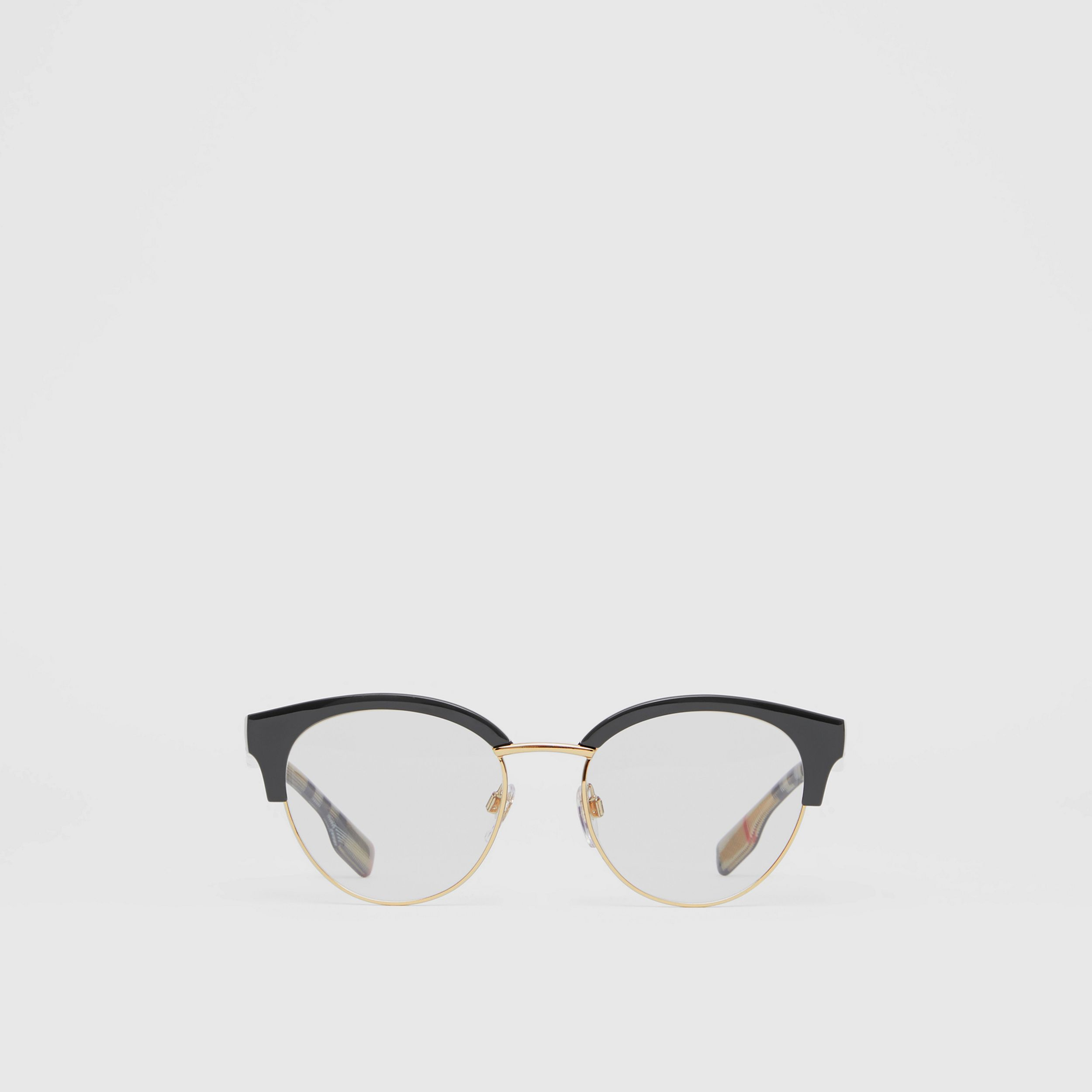 Cat-eye Optical Frames in Black/beige - Women | Burberry - 1