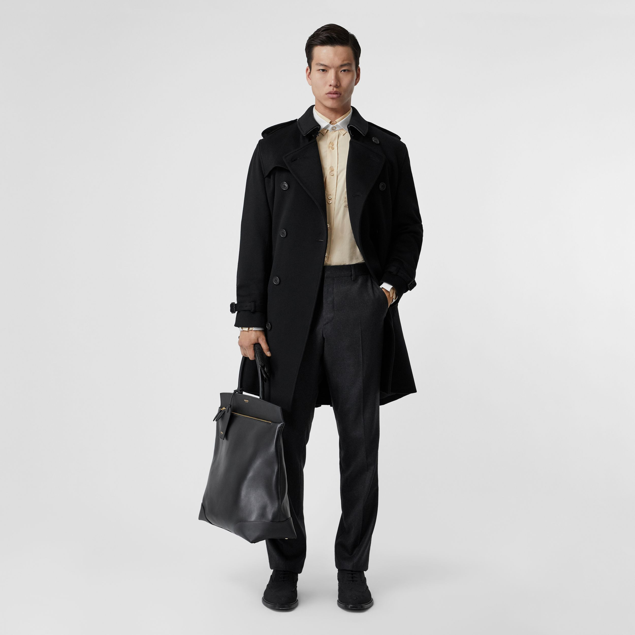 Cashmere Trench Coat in Black - Men | Burberry - 1
