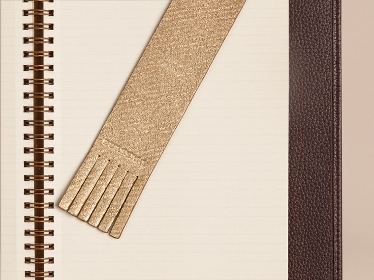 Gold Twill Embossed Leather Bookmark - cell image 1