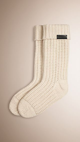 Knitted Cashmere Socks