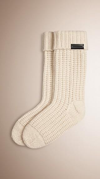 Chaussettes en maille de cachemire