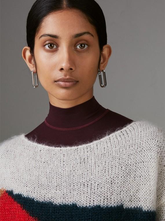 Pendants d'oreilles à maillons plaqués palladium avec verre (Palladio) - Femme | Burberry Canada - cell image 3