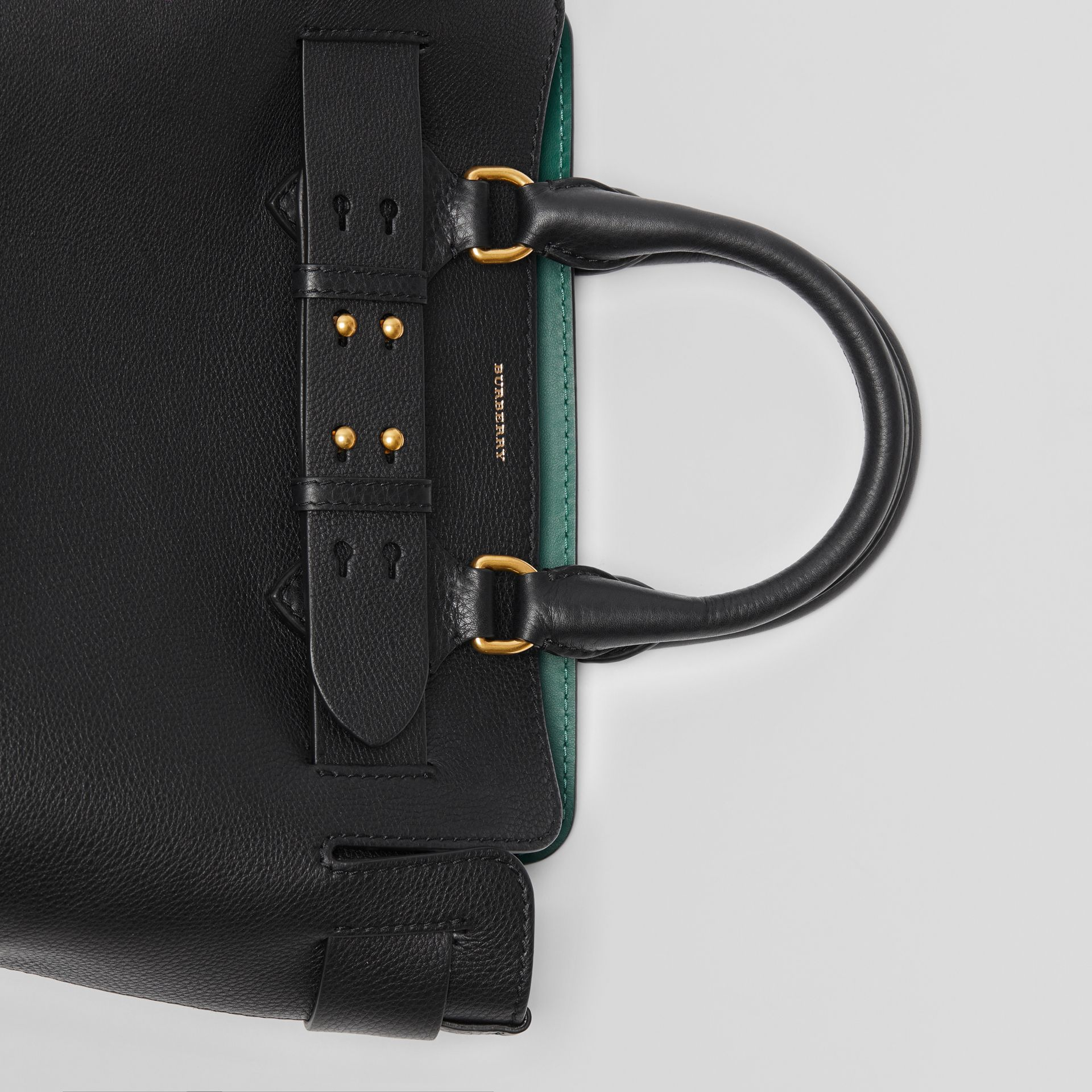 The Small Leather Belt Bag in Black - Women | Burberry - gallery image 1
