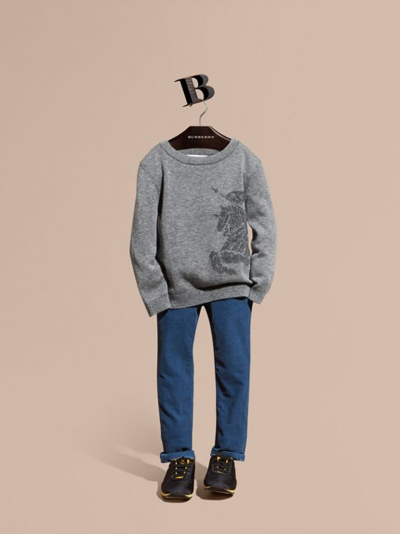 Equestrian Knight Detail Cashmere Sweater - Boy | Burberry Singapore