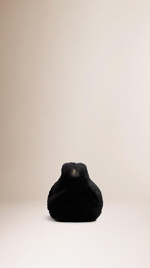 Black Mink Clutch Bag - Image 3