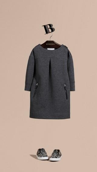 Robe en jersey de coton mélangé