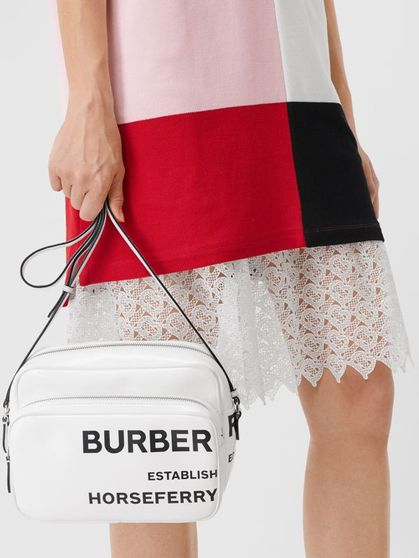 Medium Horseferry Print Camera Bag in White | Burberry - cell image 2