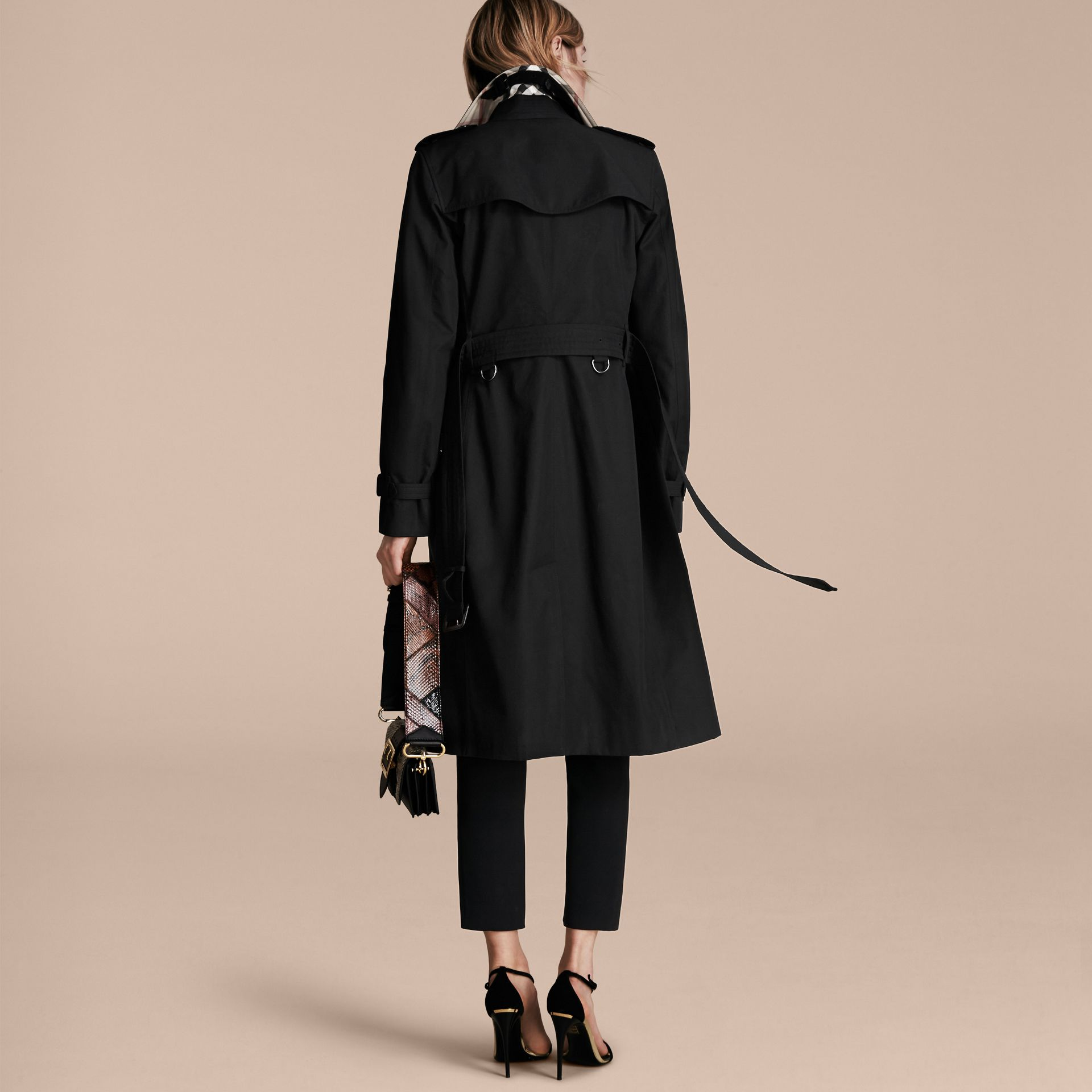 Black The Kensington – Extra-long Heritage Trench Coat Black - gallery image 3