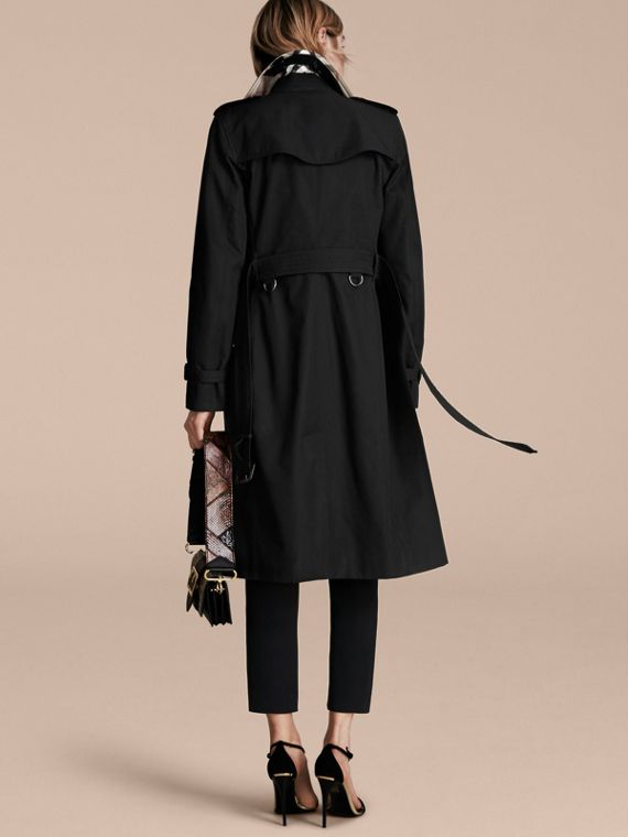 Black The Kensington – Extra-long Heritage Trench Coat Black - cell image 2