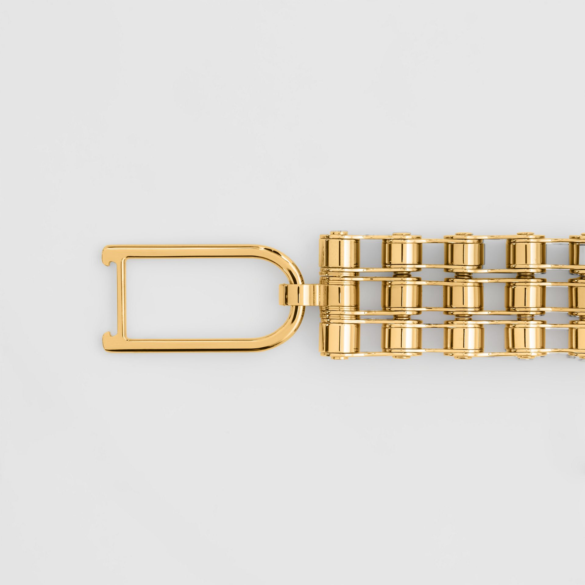 Bicycle Chain Gold-plated Bracelet in Light - Women | Burberry United Kingdom - gallery image 2