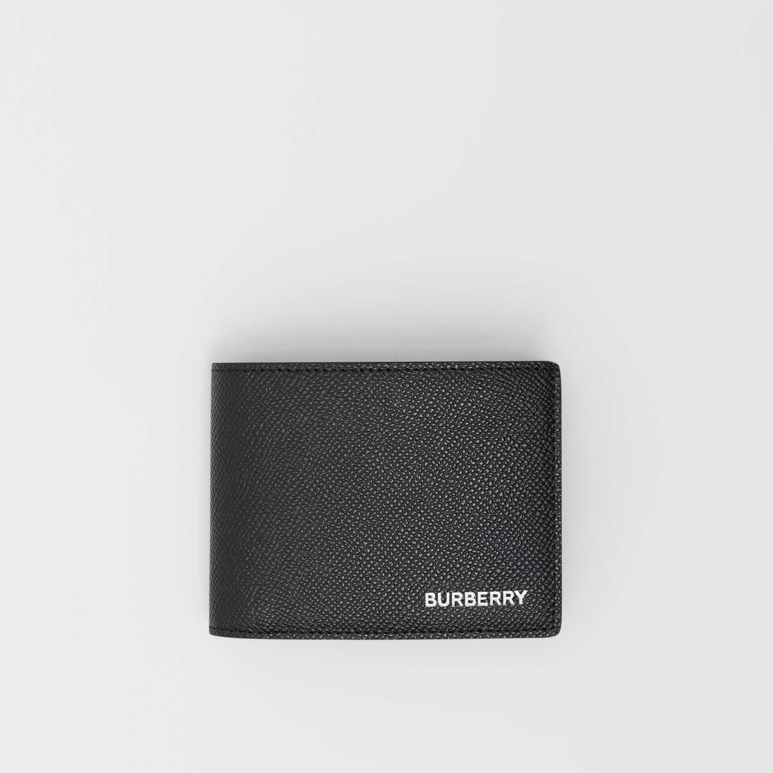 Grainy Leather Bifold Wallet in Black - Men | Burberry United Kingdom - 1