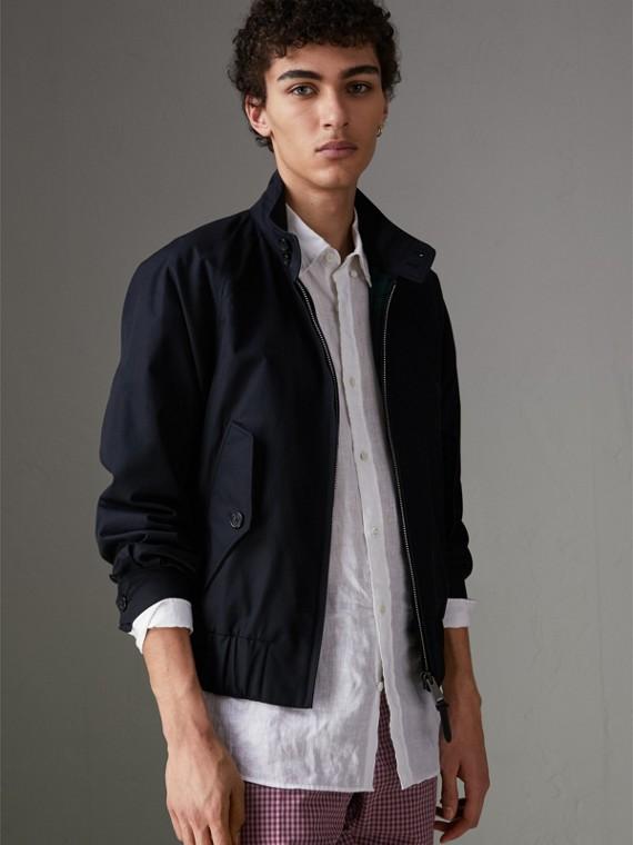 Куртка Harrington из габардина (Темно-синий)