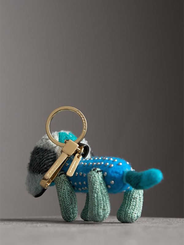 Tilly The Sausage Dog Cashmere Charm in Teal Blue | Burberry - cell image 3