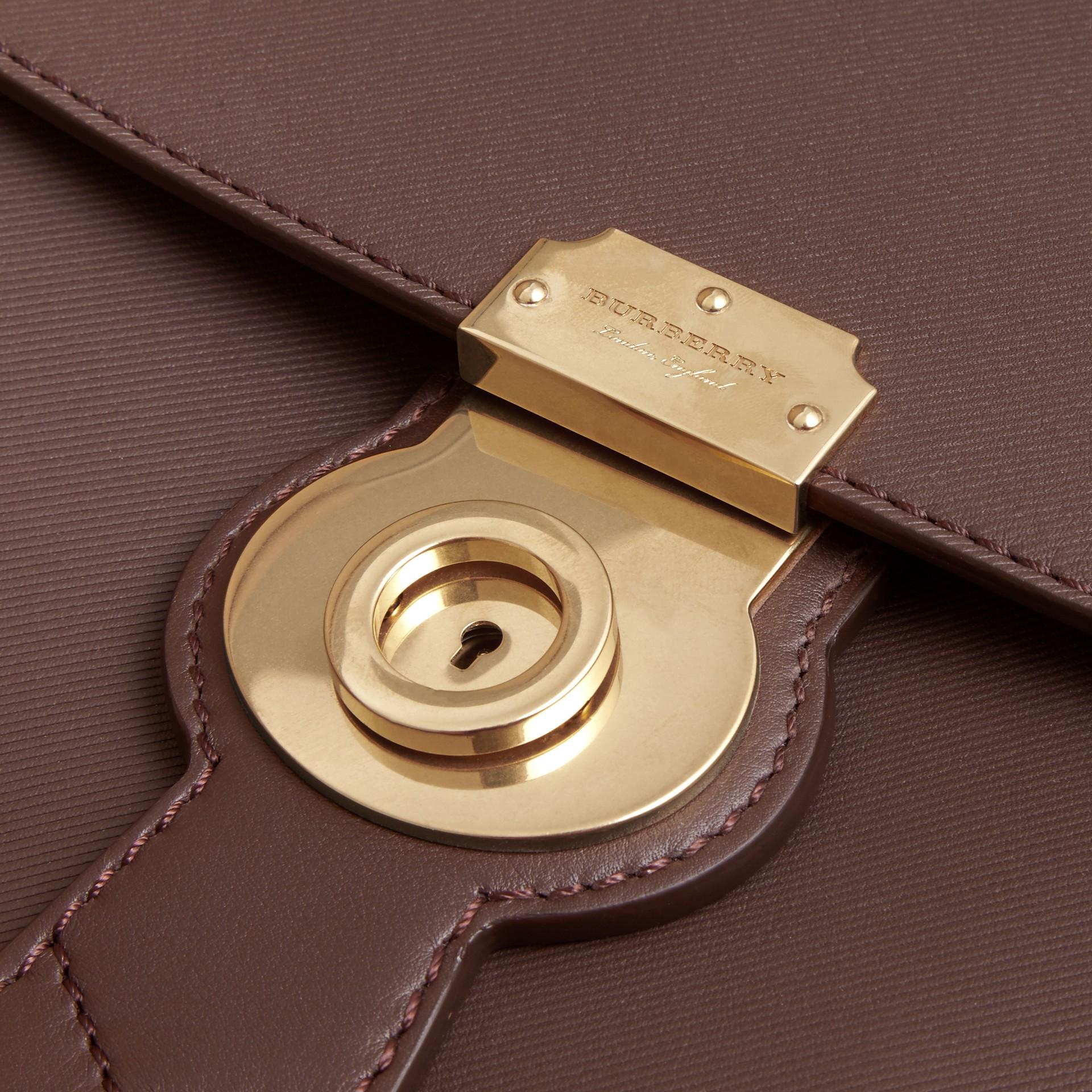 The Medium DK88 Top Handle Bag Dark Chocolate - gallery image 7