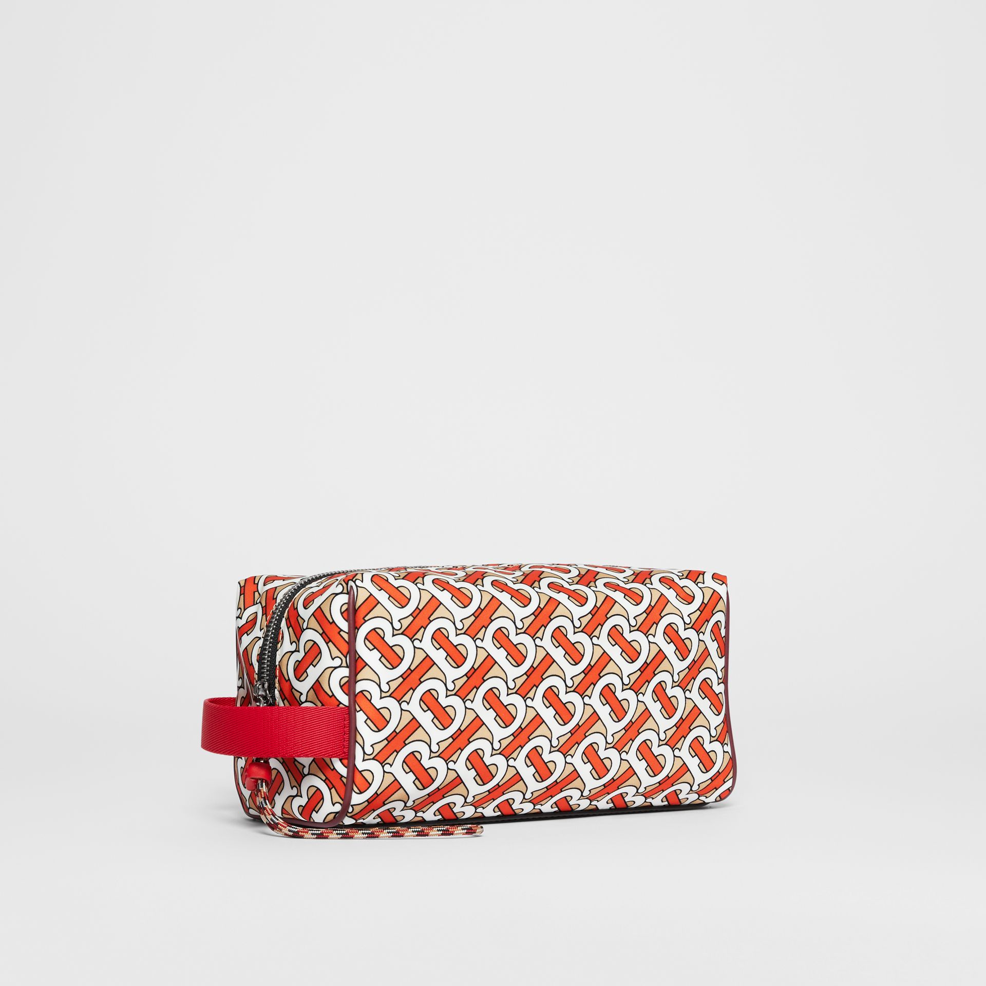 Monogram Print Nylon Pouch in Vermilion | Burberry United Kingdom - gallery image 6