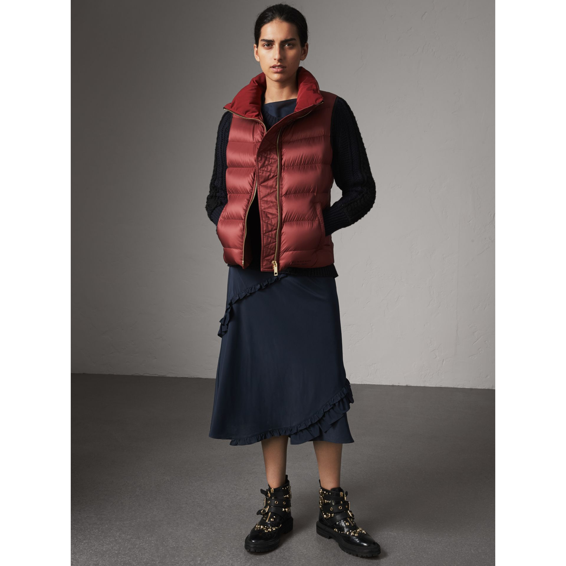 Down-filled Gilet in Military Red - Women | Burberry - gallery image 5