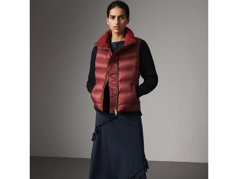 Down-filled Gilet in Military Red - Women | Burberry - cell image 4