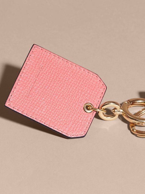 Grainy Leather Key Charm in Copper Pink - Women | Burberry - cell image 3