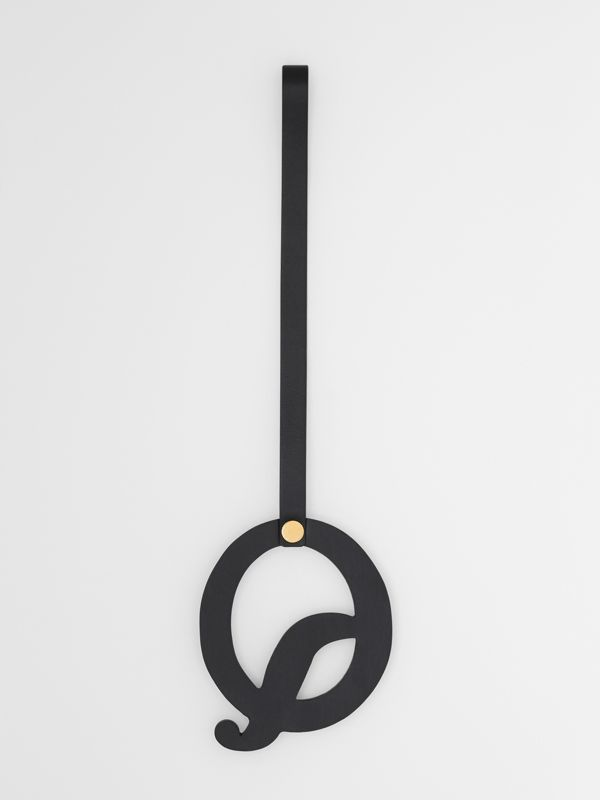'Q' Studded Leather Alphabet Charm in Black/light Gold - Women | Burberry Hong Kong S.A.R - cell image 2
