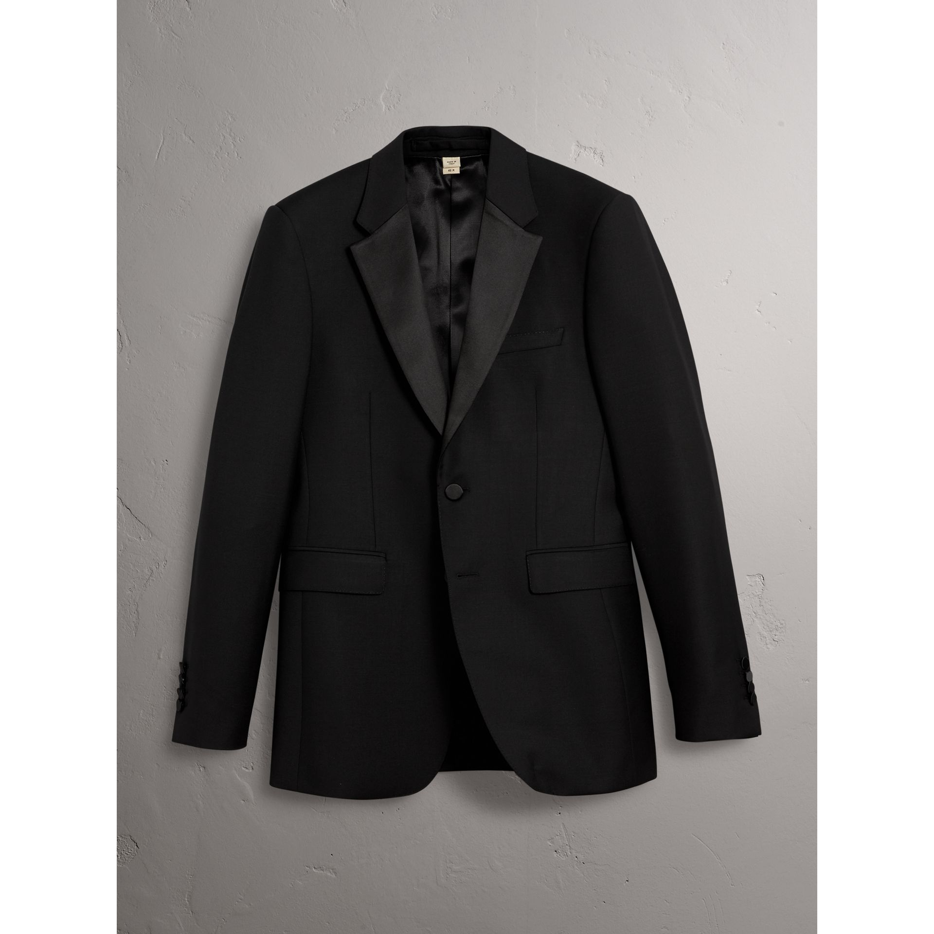 Modern Fit Wool Mohair Half-canvas Tuxedo in Black - Men | Burberry Australia - gallery image 5