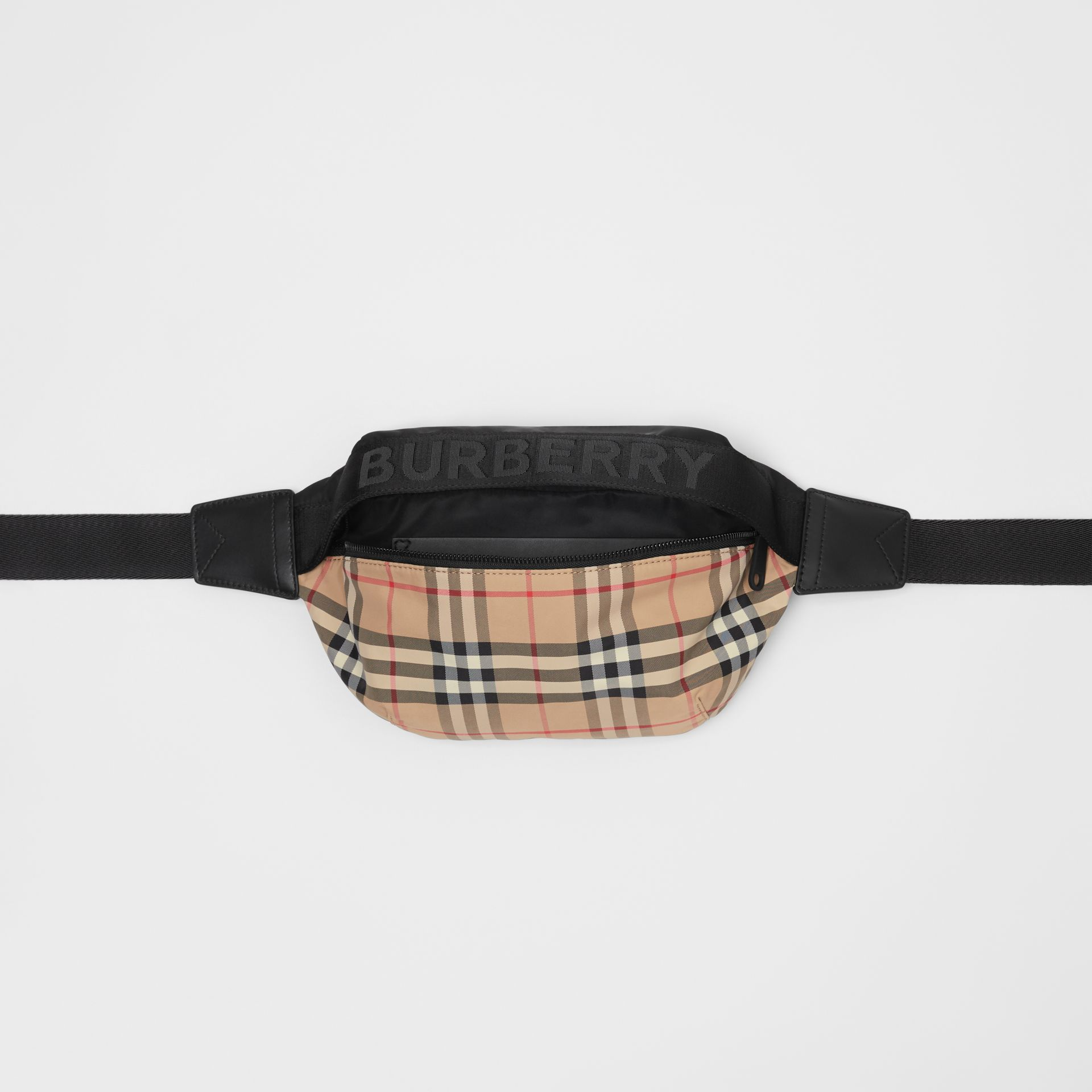 Medium Vintage Check Bum Bag in Archive Beige - Women | Burberry - gallery image 5