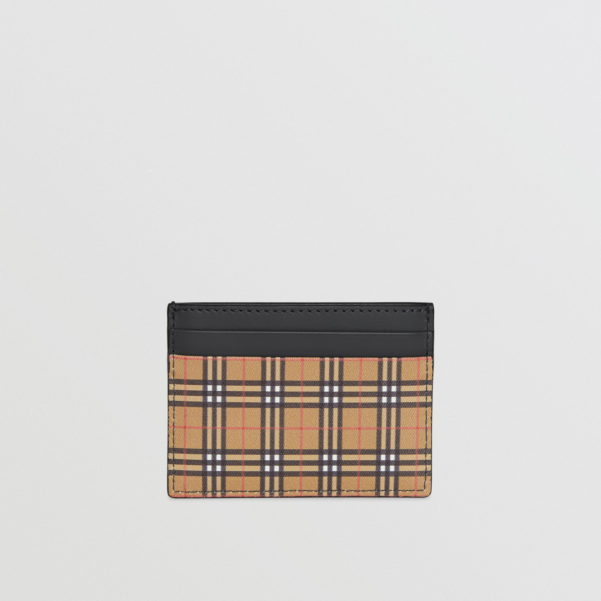 Vintage Check and Leather Card Case in Antique Yellow/dark Grey - Men | Burberry Hong Kong - gallery image 5