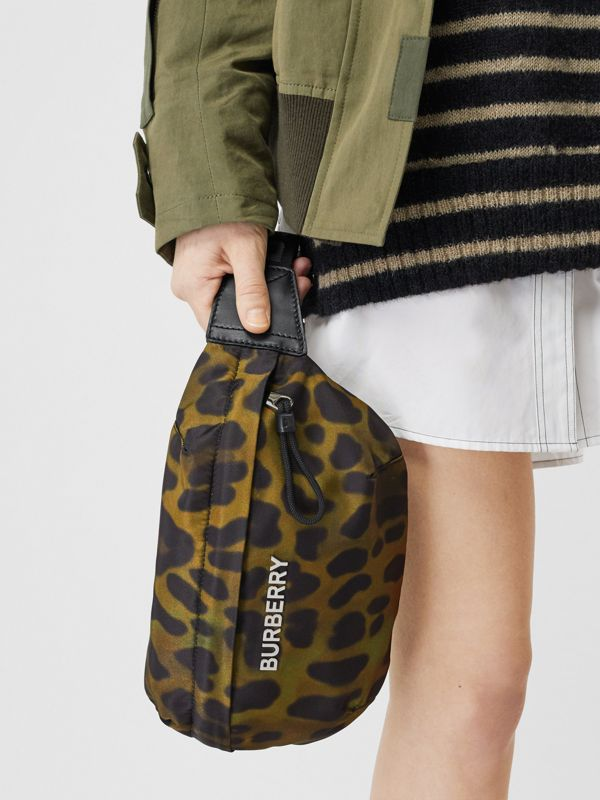 Medium Animal Print Bum Bag in Khaki Green - Men | Burberry Singapore - cell image 2