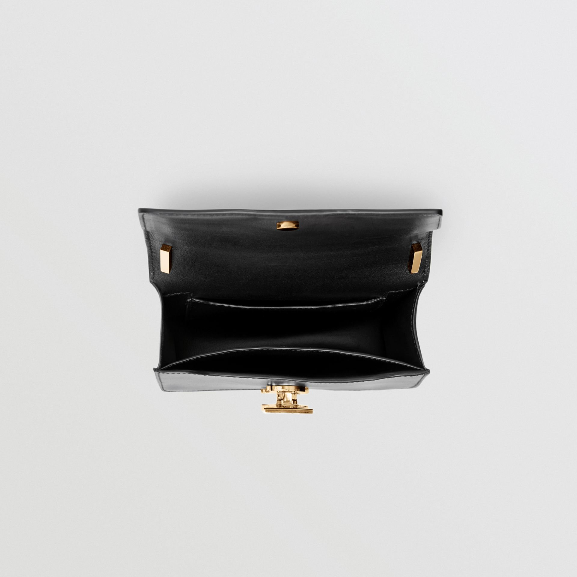 Mini Leather TB Bag in Black - Women | Burberry United Kingdom - gallery image 4
