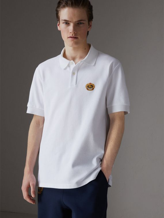 Reissued Cotton Polo Shirt in White
